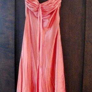 Cache Salmon-Colored Formal Dress